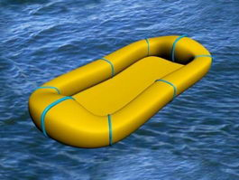 Inflatable Raft 3d preview