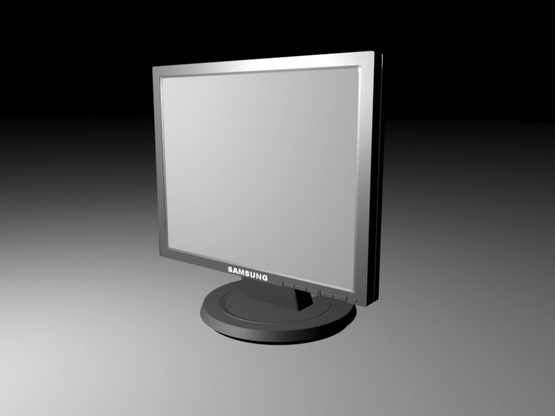 Samsung LCD Monitor 3d rendering