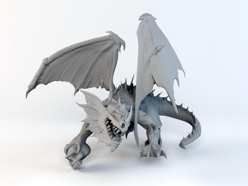 Evil Dragon 3d rendering