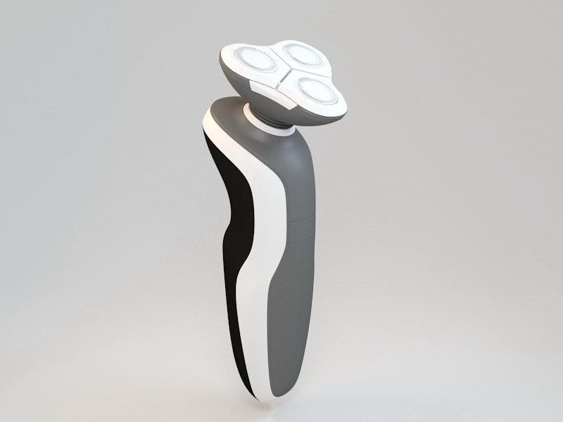 Dry Electric Shaver 3d rendering