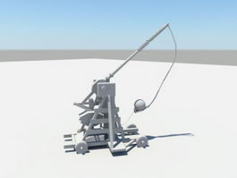 Medieval Catapult 3d preview