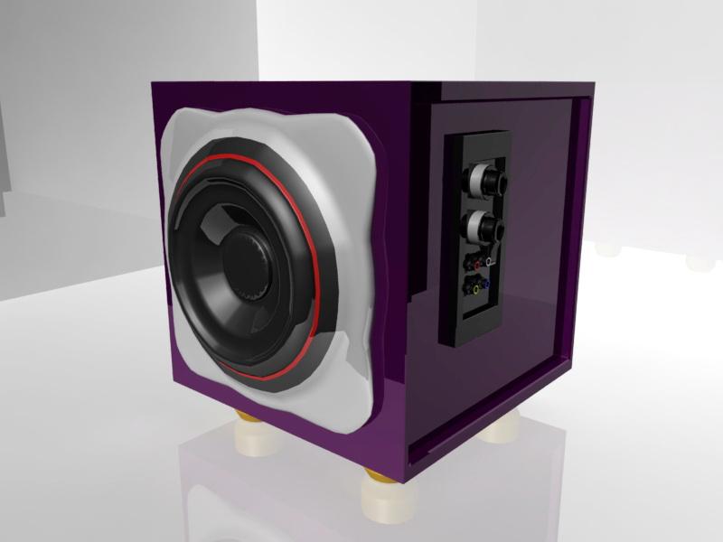 Desktop Speaker 3d rendering