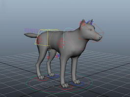 Dog Rigging 3d preview