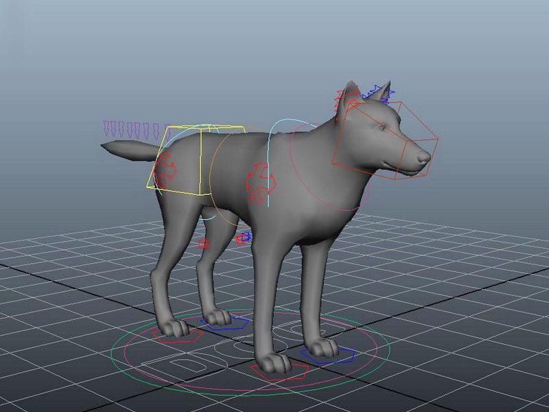 Dog Rigging 3d rendering
