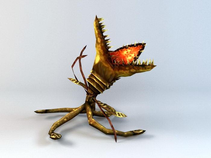 Carnivorous Plant Monster 3d rendering