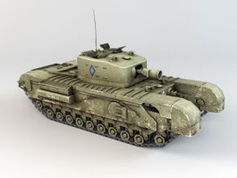 WW2 Churchill Tank 3d preview