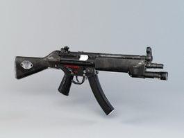 MP5 Parabellum Submachine Gun 3d preview