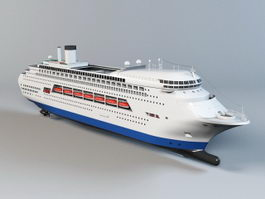 Luxury Cruise Ship 3d preview