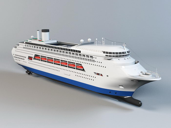 Luxury Cruise Ship 3d rendering