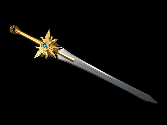 Diablo III El'Druin The Sword of Justice Prop Replica 3d rendering