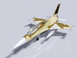 F16 American Multirole Fighter Jet Aircraft 3d preview