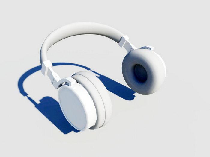 Full Size Headphone 3d rendering