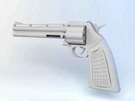 Revolver Handgun 3d preview