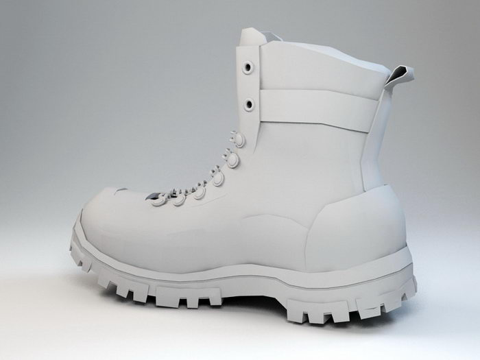 Military Boot 3d rendering