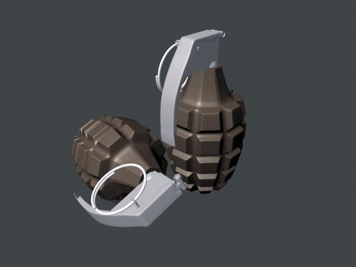 Frag Grenade 3d rendering