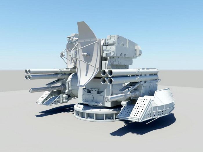 Kashtan CIWS 3d rendering