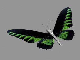 Green Butterfly 3d preview
