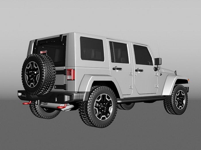 Jeep Commander 3d rendering