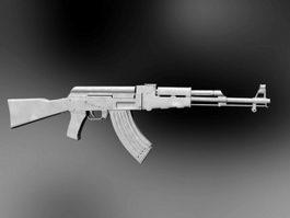 AK-47 Assault Rifle 3d model preview