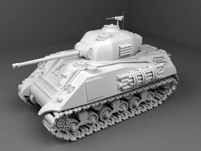 M4 Sherman Tank 3d rendering