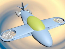Cartoon Airplane 3d preview
