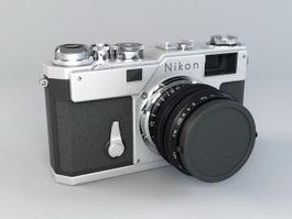 Nikon SLR Camera 3d model preview