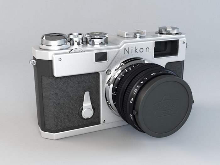 Nikon SLR Camera 3d rendering