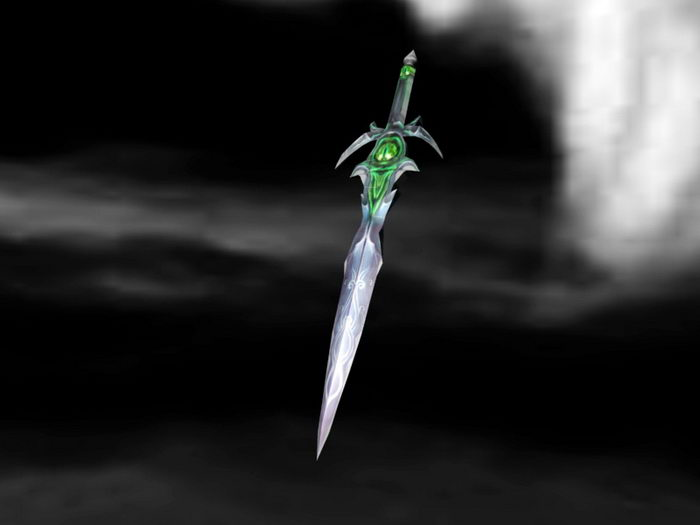 Magical Dagger 3d rendering