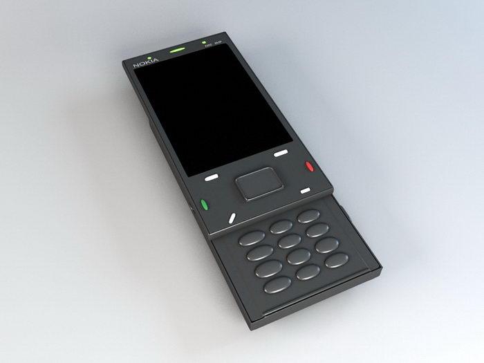 Nokia N86 Smartphone 3d rendering