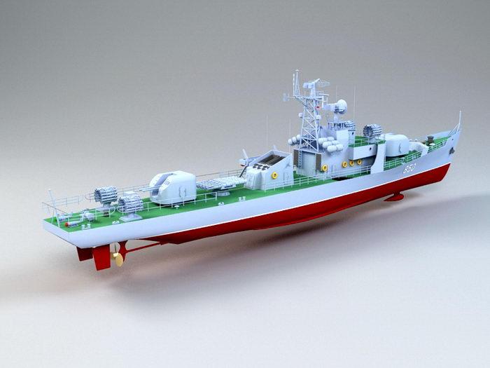 Petya-class Frigate 3d rendering