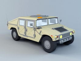 Humvee Military Truck 3d preview