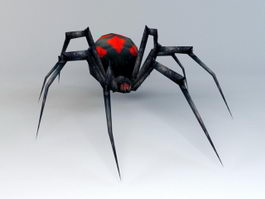 Black Widow Spider 3d preview