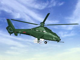 Z-19 Chinese Attack Helicopter 3d preview