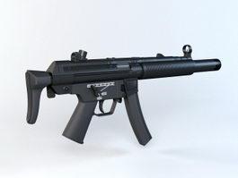 HK MP5SD Submachine Gun 3d preview