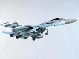 Su-27 Flanker Fighter Aircraft 3d model preview