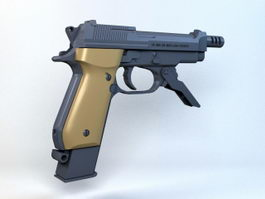 Beretta 93R Machine Pistol 3d preview