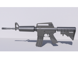 American M4 Assault Rifle 3d preview