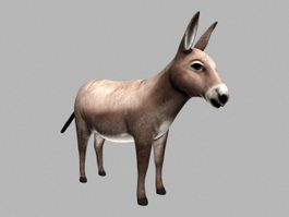 Cute Donkey 3d preview