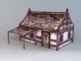 Medieval Folk House 3d preview