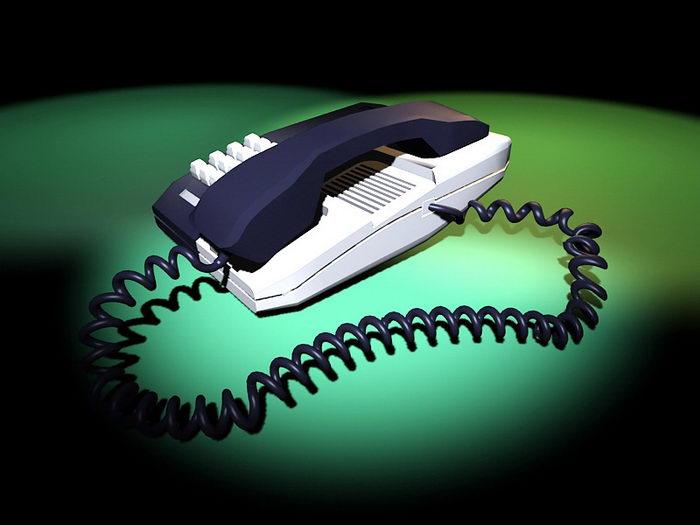 Office Telephone 3d rendering