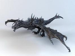 Alduin Dragon 3d model preview