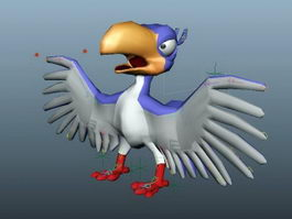 Cartoon Parrot Rig 3d preview