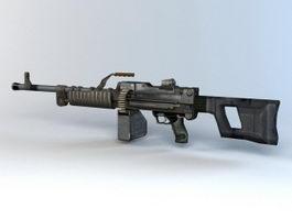 QJY-88 Light Machine Gun 3d preview