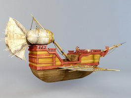 Fantasy Flying Boat 3d preview