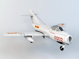 Chinese J-5 Fighter Aircraft 3d model preview