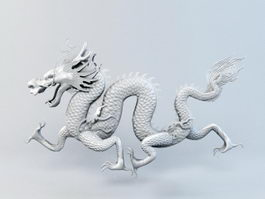 Chinese Dragon 3d model preview