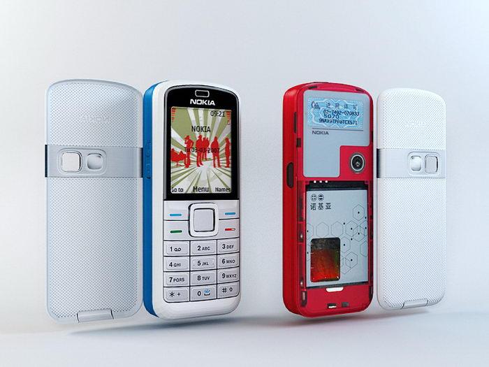 Nokia 5070 3d rendering