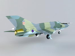 MiG-21 Fishbed Supersonic Jet Fighter 3d preview