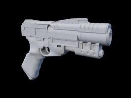 Sci-Fi Handgun 3d preview