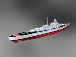 Bismarck-class Battleship 3d model preview